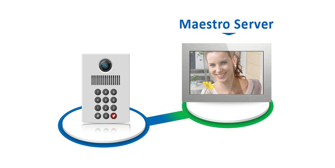 Interphone vidéo IP SIP, Maestro, Écran tactile KNX, Solución Servidor KNX