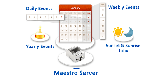Zeitpläne, KNX App, Maestro Server