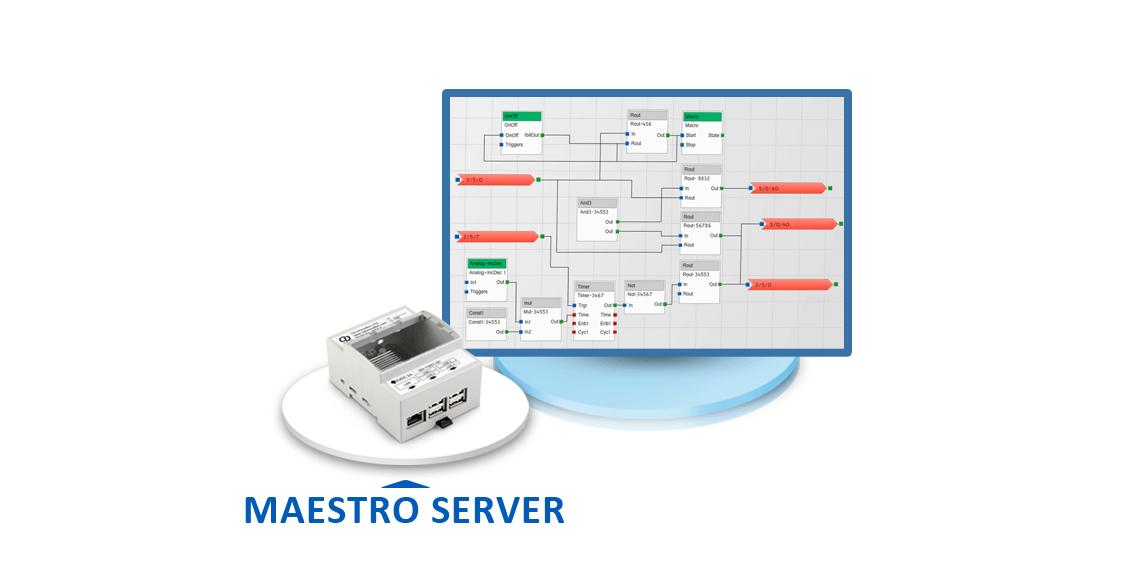 Logik Controller, Maestro Server, KNX App